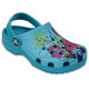 Crocs Classic Graphic Clogs Kids Turquoise